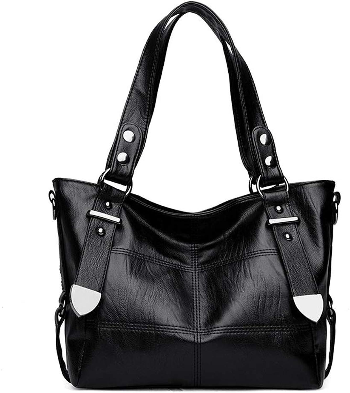 XYYXMQ Women Top Handle Satchel Handbags Shoulder Bag Tote Ladie's Leather Multiple Pockets