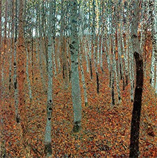 Klimt (Beech Forest I (Buchenwald), c.1905) Canvas Art Print Reproduction (21.7x21.7 in) (55x55 cm)
