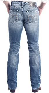 Rock & Roll Cowboy Men's and V Reflex Revolver Slim Straight Jeans - M1r2365