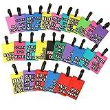 Spaufu 5x etichette per bagagli in silicone novità slogan modello valigia etichetta valigia Cartoon ID card Holder Cartoon ciondolo per valigia bagaglio borsa zaino unisex da viaggio di