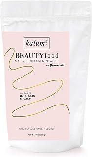 Kalumi BEAUTYfood Marine Collagen Powder 30 Servings (unflavored) Wild-Caught, Type 1, for Skin Hair Nails, Gluten Free, N...