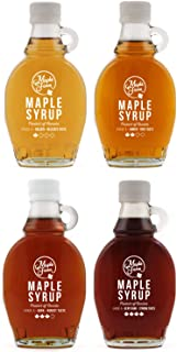 comprar comparacion MapleFarm - Jarabe de arce puro. Pack degustación 4 variantes: ORO - ÁMBAR - OSCURO - MUY OSCURO. Paquete de 4 botellas de...