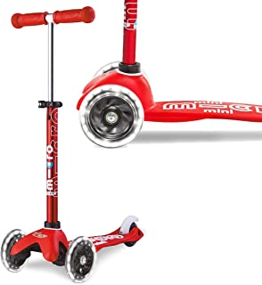 Mini Micro Deluxe with LED Wheels, Red - MMD052
