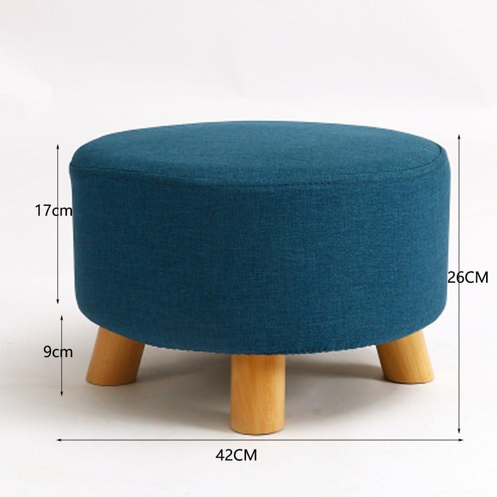 WLL- Petit tabouret maison petit tabouret en bois massif canapé tabouret s'asseoir banc de chaussures tabouret petit tabouret tabouret de mode (42x26cm) (Color : Green) Blue