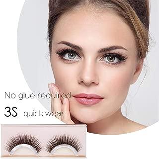 2 pairs Self-Adhesive Eyelashes Pack - 3D False Eyelashes Non-Irritating Lashes Strips – Easy to Wear, No Glue Involved & Reusable – Natural Fashion Eye Lash Extensions for Fashion &Makeup