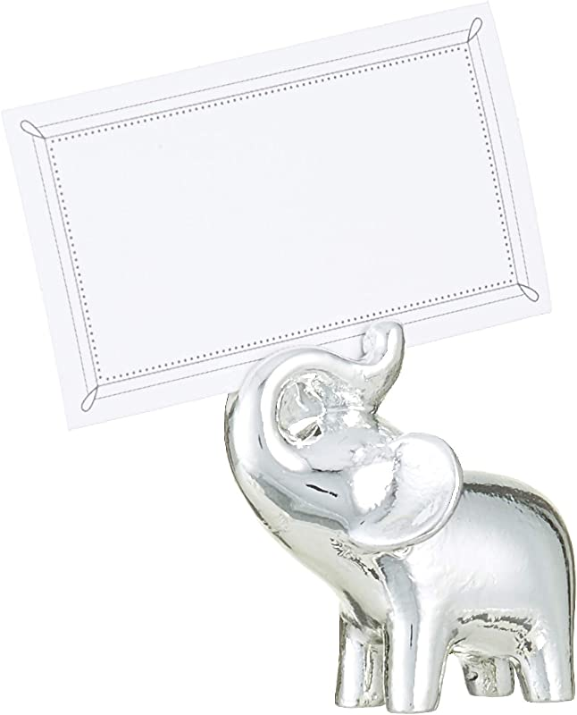 Kate Aspen Lucky In Love Lucky Elephant Place Card Photo Holder With Silver Finish Party Favor Gift Set Of 4