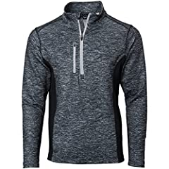The TGW Heather Color Block1/4 Zip Golf Pullover is designed as a comfortable layering piece with golf-specific performance. Moisture-wicking performance fabric keeps you dry and comfortable. Breathable fabric regulates temperature for the best feel ...