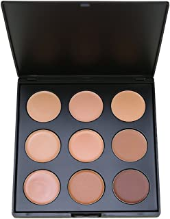 Makeup Concealer Palette,Vodisa 9 Color Camouflage Cream Contour Kit Face Blemishes Contouring Face Blemish Highlighting Make Up Bronze Conceal Beauty Cosmetics Cheek Foundation Contour Pallet Set (2)