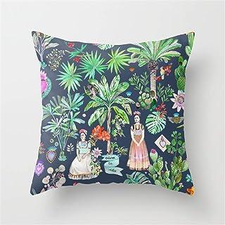 lesif Frida Kahlo Botanics–Carbon Grey almohada, funda de cojín la Página de inicio almohada fundas de almohada 45x 45cm