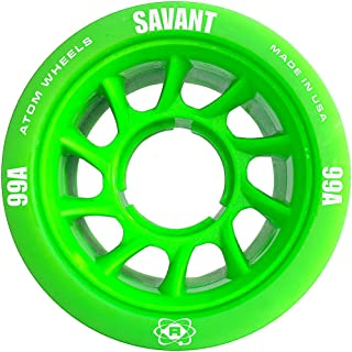 ATOM Savant Roller Wheels - Ultra Light for Perfect Speed and Control Available in 88A, 91A, 93A, 95A, 99A Pink, Blue, Purple, Black, Orange, Green, 4 or 8 Pack