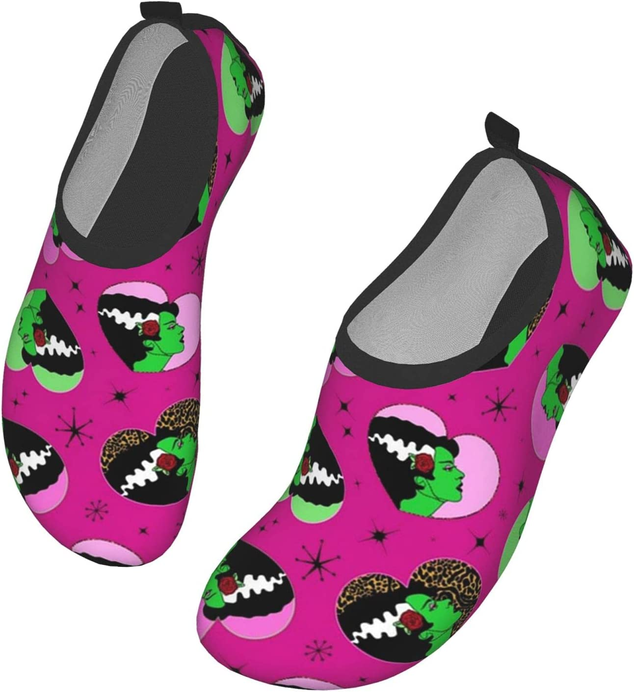 NA Bride Hearts Pink Men's Women's Water Shoes Barefoot Quick Dry Slip-On Aqua Socks for Yoga Beach Sports Swim Surf