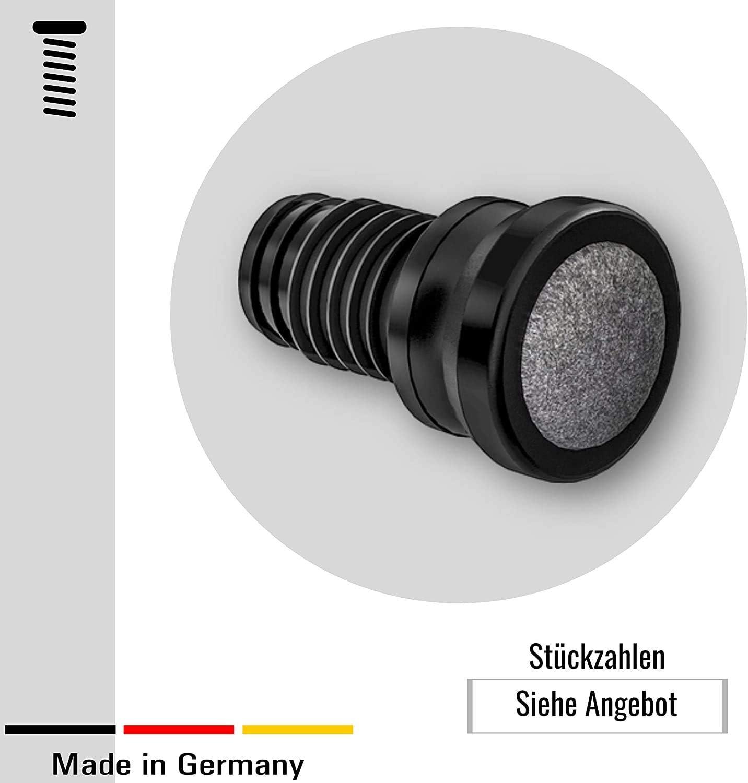 4 tapones para los pies y silla con articulaci/ón y superficie deslizante de fieltro . pl/ástico//fieltro 19 mm