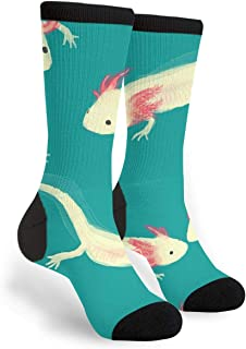Women's Men's Fun Novelty Crazy Crew Socks Axolotl Dress Socks