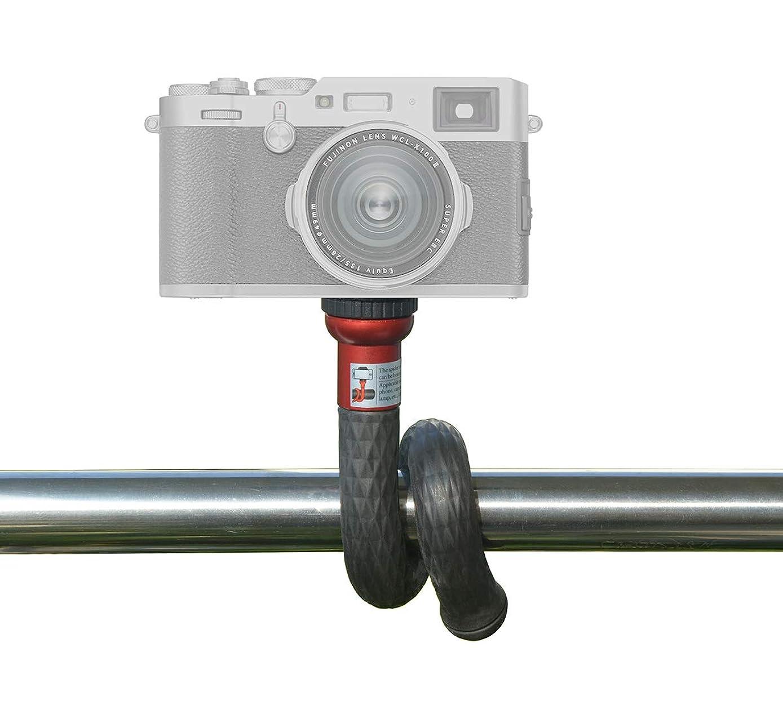 灵活自拍杆单脚架相机安装带 0.64cm 螺丝螺纹适用于智能手机支架 Gopro 相机和摄影配件, 红色