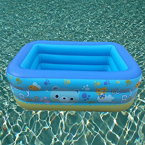 FCH Babypool Play Box Pool Rectangular Pool Kinder Dreischichtiger und auslaufsicherer Pool Stark und langlebig Leicht zu tragen Aufblasbarer Innen- und Außenpool 150 * 115 * 52 cm