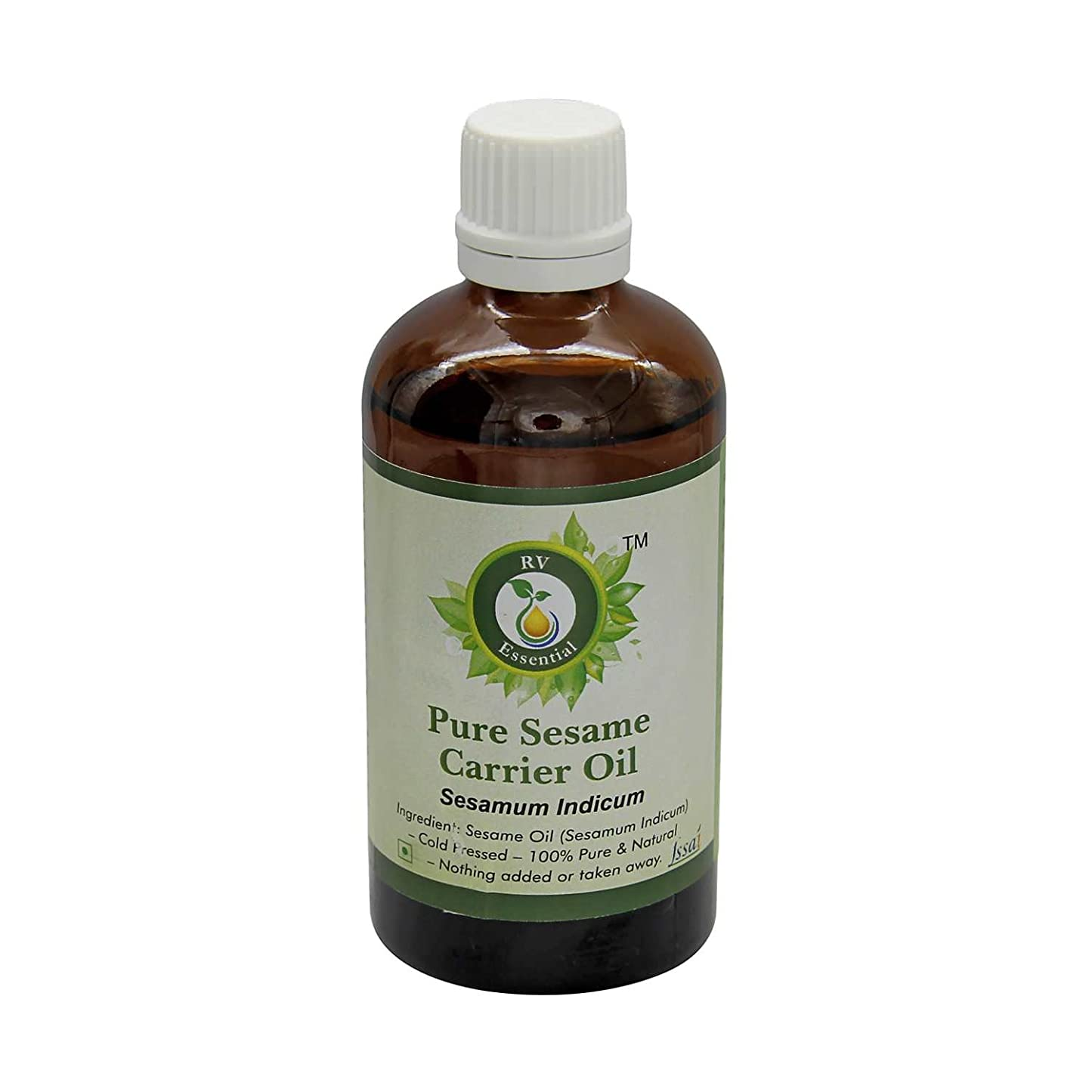 オペラショッピングセンター束R V Essential 純粋なごま油15ml (0.507oz)- Sesamum Indicum (100%ピュア&ナチュラルコールドPressed) Pure Sesame Carrier Oil