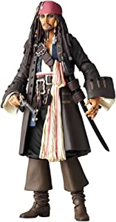 Pirates of the Carribean Revoltech SciFi Super Poseable Action Figure Jack Sparrow by Kaiyodo Jap.