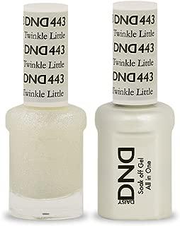 DND Soak Off Gel Polish Dual Matching Color Set 443, Twinkle Little Star