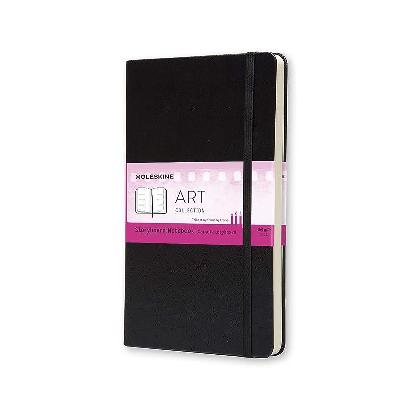はちみつ意外卵モレスキン アートコレクション ストーリーボードノートブック ハードカバー ラージサイズ ブラック ARTQP082