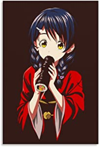 YYDY Anime Poster Food Wars Poster Megumi Tadokoro Poster Shokugeki No Soma Poster Poster Decorative Painting Canvas Wall Art Living Room Posters Bedroom Painting 12x18inch(30x45cm)