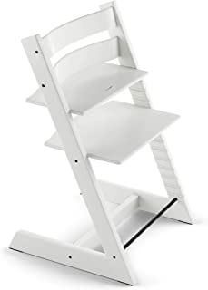 TRIPP TRAPP Silla evolutiva de madera | Silla de altura regulable perfecta para bebés, niños y adultos | Tipo de madera: Beech | Colour: Blanco