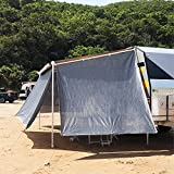 Awnlux RV Awning Sun Shade Right Grey Mesh Screen Sunshade Complete Kits Camping Trailer Canopy UV Sunblocker - 3 Years Limited Warranty