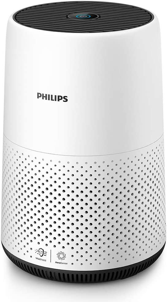 Philips AC0820/30 Series 800 Compact Air Purifier with Real Time Air Quality Feedback, Anti-Allergen, Reduces Odours and Gases, HEPA