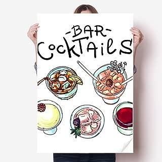 DIYthinker Bar Cocktails Beer Red Wine Sticker Poster Decal 31x22