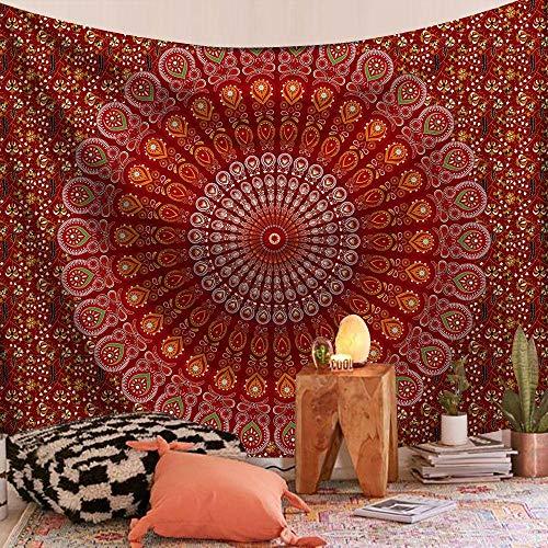 LLXJLUCKY Tapiz psicodélico para Colgar en la Pared, Mandala, Toalla de Playa de Arena, Alfombra Bohemia, Manta para Dormir, tapices, decoración del hogar