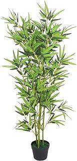 vidaXL Artificial Bamboo Plant with Pot 120cm Green Fake Lif