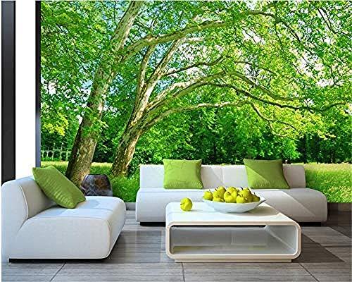 XHXI Mural grande personalizado cualquier tamaño naturaleza paisaje árbol foto papel tapiz decoración del hoga Pared Pintado Papel tapiz Decoración dormitorio Fotomural sala sofá mural-300cm×210cm