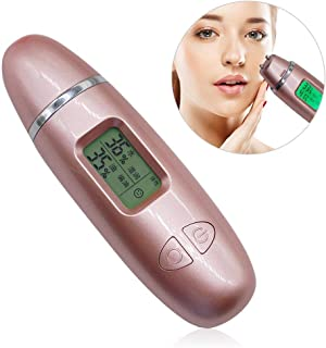 Portable Skin Analyzer, Hamkaw Digital Skin Detector Pen with LCD Display for Skin Moisture&Oil Testing, Battery Operated Skin Care for Traveling,Home,Beauty Salon