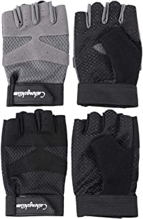Domybest Cycling Gloves Sports Fitness Anti-Slip Breathable Half Finger Gloves