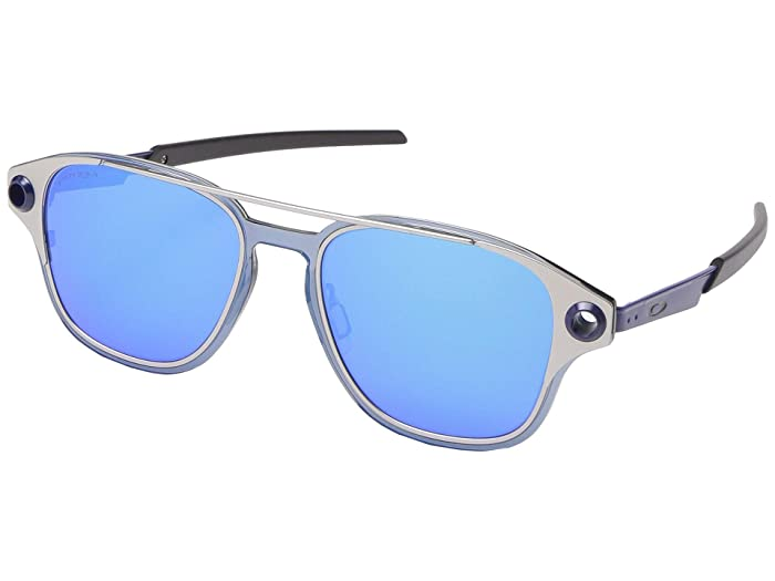 Oakley  52 mm Coldfuse (Satin Chrome with PRIZM Sapphire) Fashion Sunglasses