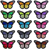 ONESING 15 Pcs 3'' Butterfly Iron on Patches Embroidered Applique Patches for DIY Decoration Jackets, Jeans, Clothing, Bag, Caps, Arts Craft Sew Making