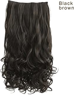 "REECHO 20"" 1-Pack 3/4 Full Head Curly Wave Clips in on Synthetic Hair Extensions.."