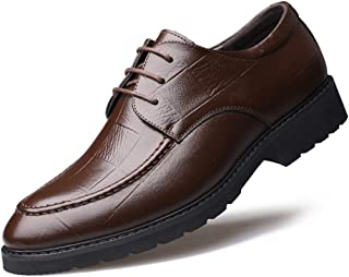 [AJGLJIYER LTD] ビジネスシューズ メンズ シューズ ポインテッドトゥ カジュアルシューズ クロスバンドストラップ 紳士靴 革靴 牛革 超繊維 チェック柄 滑り止め 軽量 コンフォート 通勤 OL 冠婚葬祭