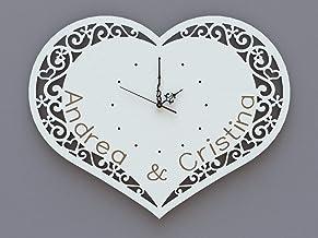 Orologio parete Cuore Personalizzato Idea Regalo San Valentino Amore Innamorati