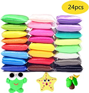 Szsrcywd Air Dry Clay,24 Colors DIY Modeling Clay Ultra Light Molding Magic Clay
