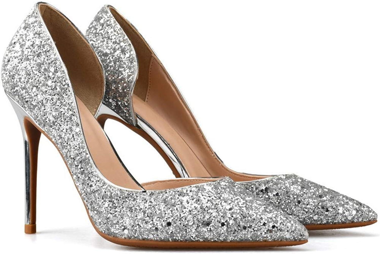 CCBubble High Heels Women shoes Sequined Party Stiletto Pumps Women