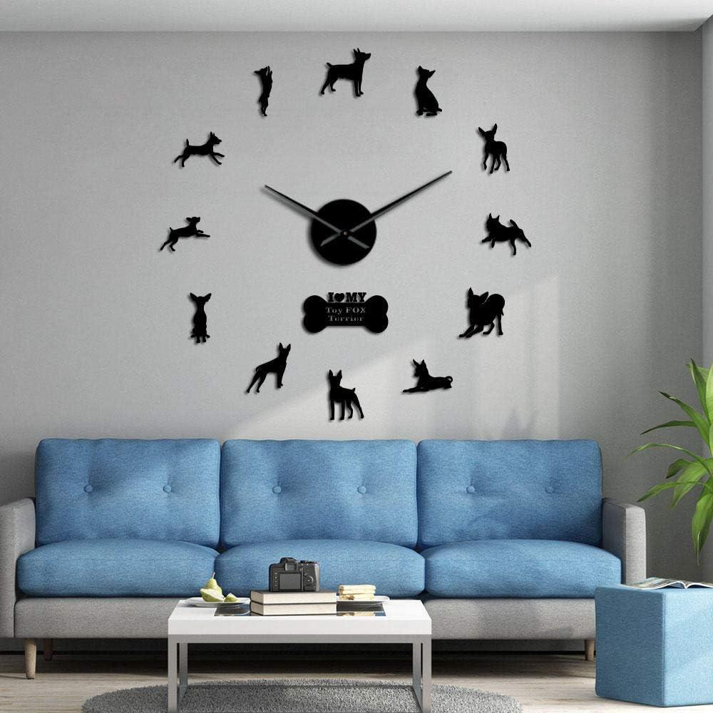 Large favorite Wall Houston Mall Clock DIY Frameless Stick on 3D Clo