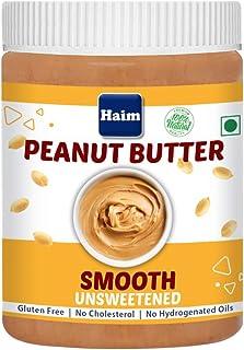 HAIM All Natural Peanut Butter Smooth (Unsweetened) (Vegan, Gluten Free, Non-GMO ) 400 g
