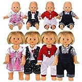 Miunana 4 Articoli = 4 PCS Abiti Vestiti Tuta Alla Moda Per 36 CM - 42 CM (14 Pollici - 16 Pollici) Baby Dolls, Bambola Bebé, Bambolotti