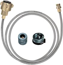 lixada Propane Adapter Hose Converter Replacement for QCC1/Type1 Tank Connects 1 LB Bulk Portable Appliance to 20 lb Propane Tank Fits for Grill,Burner,Turkey Fryer,Cooker,firepit and More
