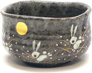 Japanese Matcha Bowl Rabbit KUTANI YAKI(ware) (Standard version)