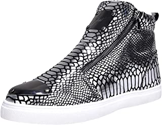 Men Shoes, Men's Casual Shoes High-heeled Shoes Personality Sequins Snakeskin Fashion Shoes