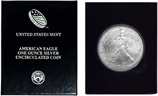 2004 - American Silver Eagle in Plastic Air Tite and Blue Gift Box with our Certificate of Authenticity Dollar Uncirculated Us Mint