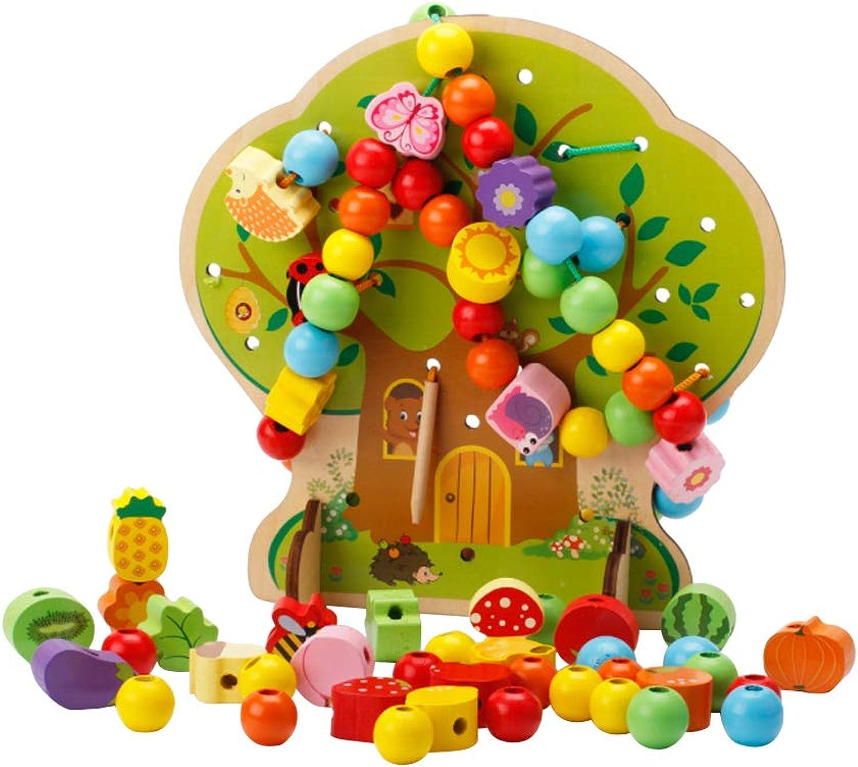 Toyvian Holz Baum Obst Tier Perlen Einfädeln Einfädeln Einfädeln Spielzeug Mädchen Schnürung Holz Spielzeug Lernen Lernspielzeug für Kinder Kinder (Cartoon Haus Saiten B07M99GS7S | Professionelles Design  4c6fdd