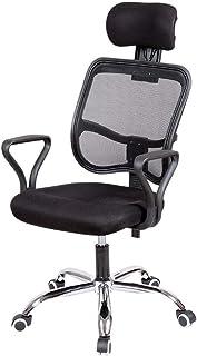 LXDDP Silla Oficina/Silla Escritorio/Silla para computadora, Respaldo ergonómico, Mecanismo inclinación, Ajuste Altura, con reposacabezas elevable