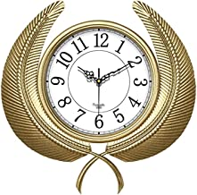 Wall Clock Non-Ticking Wall Clock ساعات الحائط الحديثة اليدوية الحديد كتم ساعة الحائط مكتب مطعم الديكور العائمة ساعة نوم غ...
